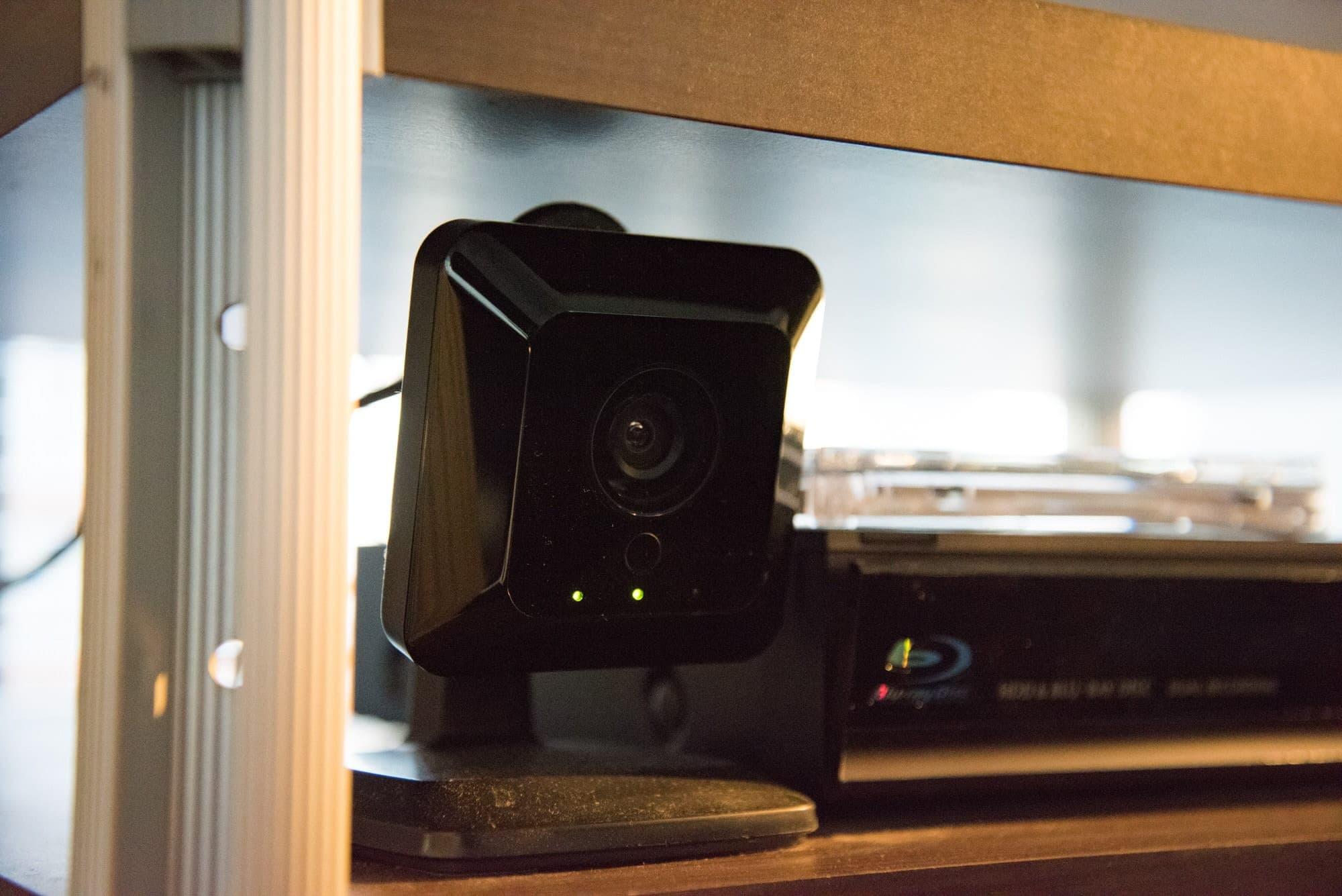 センサー付きのIPカメラ