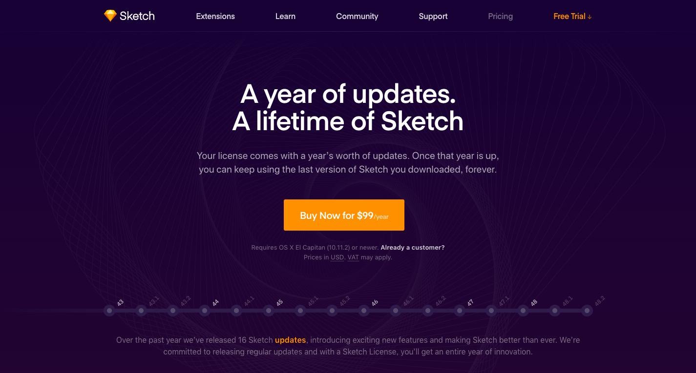 Sketchのトップページ