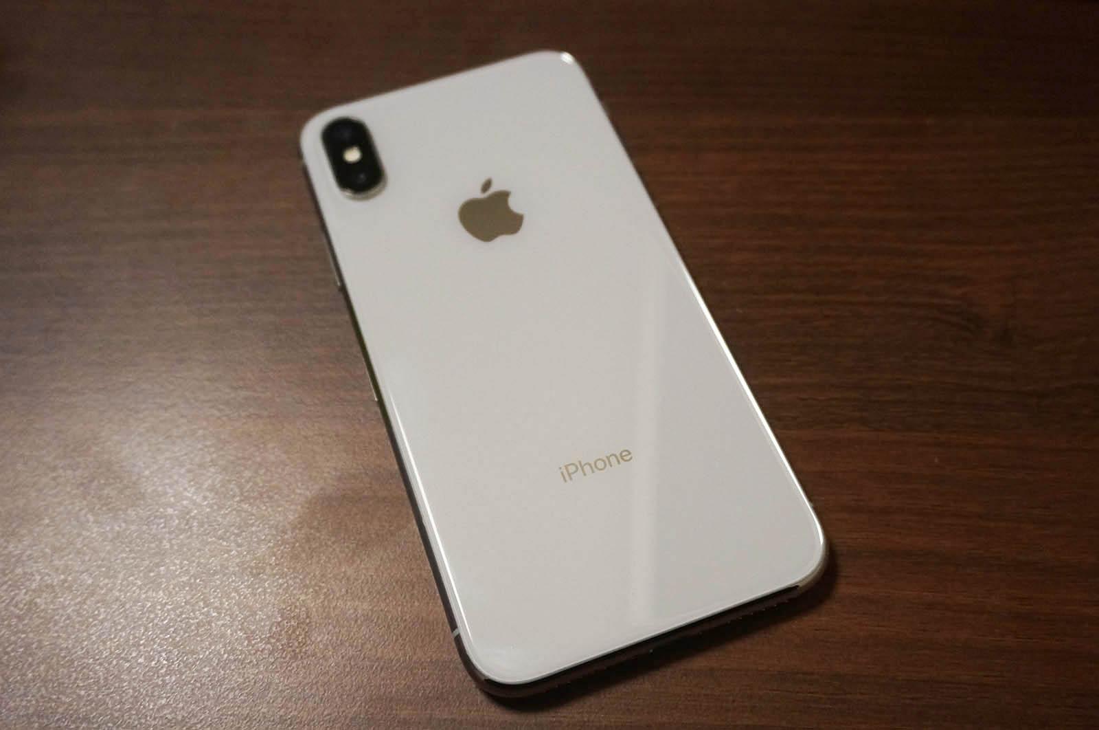 ケースを付けずに運用しているiPhone X