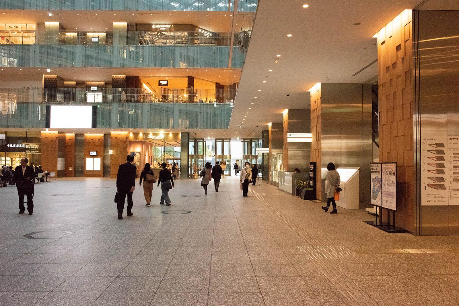 東京ロビーへの行き方・KITTEの1Fの写真