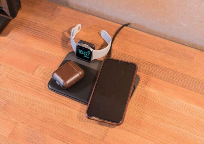 【レビュー】iPhone・第2世代AirPods・Apple Watchを同時に充電できるNOMADのワイヤレス充電器が最高すぎた
