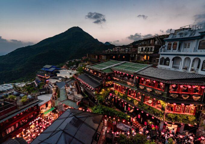 【你好台湾】九份で夜景を撮るならここ一択!海悦楼茶坊から最高の景色を眺める